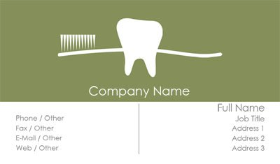 White Tooth Brush Dentist Business Card Template